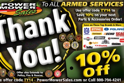 Armed Services save 10%