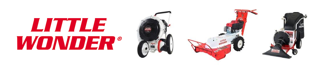 Little Wonder Blowers, Leaf and Debris Vacuum, Truck Loaders, Brush Cutters, Pro Crack Cleaners, Pro Edgers, Bedshapers, and Hedge Trimmers