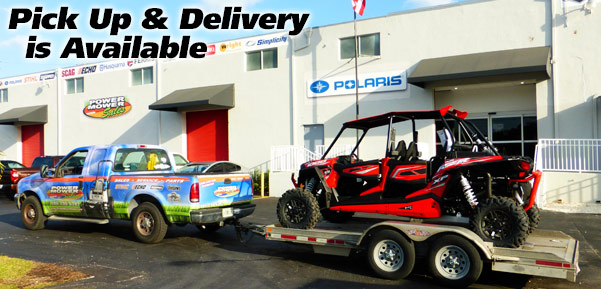 We offer Pickup and Delivery on all over-sized units